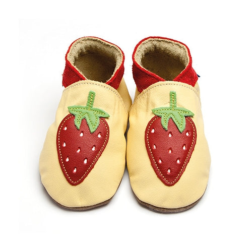 Inch Blue Baby shoes - Strawberry pastel yellow