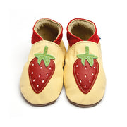 Inch Blue Baby shoes - Strawberry pastel yellow - Kiddymania Rag Dolls
