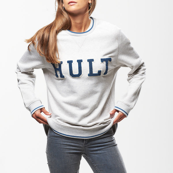 Hult Applique Sweatshirt Ash Grey