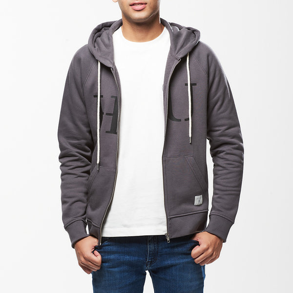 Hult Zip Hoody Grey Mens