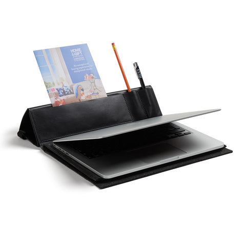 Hult Leather and Felt Laptop Workstation