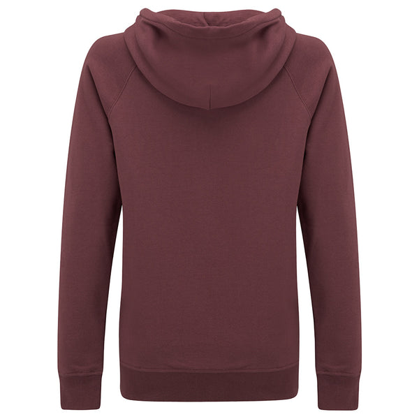 Hult Zip Hoody Burgundy Womens