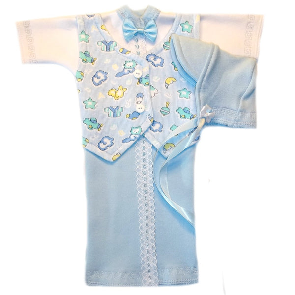 Preemie Baby Boy Burial Bereavement Gown Blue