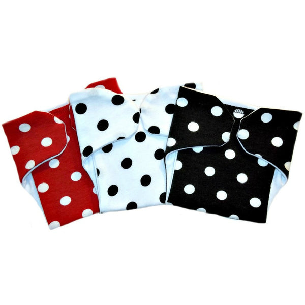 Baby Girls' Polka Dot Party Diaper Covers - Set of Three