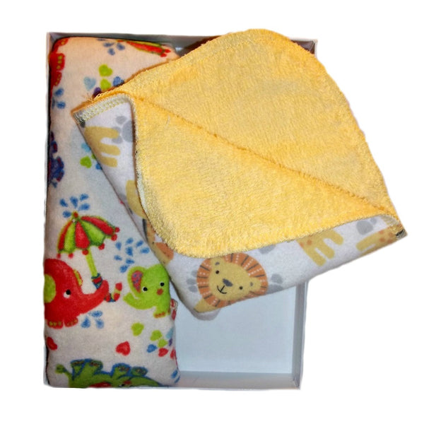 Unisex Baby Zoo Animal Washcloths Set of Two