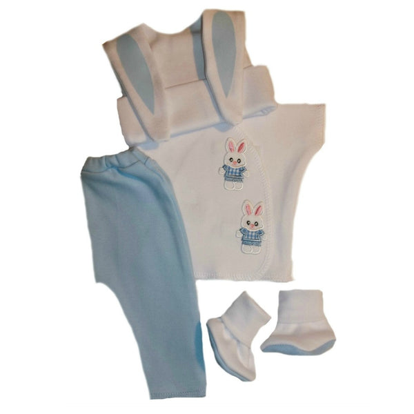 Baby Boy's Bunny Clothing Set. Premature Babies, Preemie and Newborn