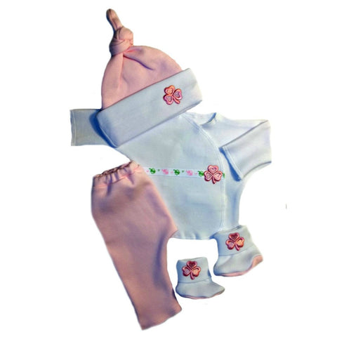 Luck of the Baby Girls' Irish Pink Clothing Set Sized For Preemie and Newborn Babies