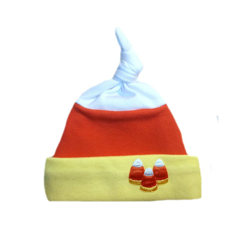 Unisex Baby Candy Corn Halloween Thanksgiving Hat