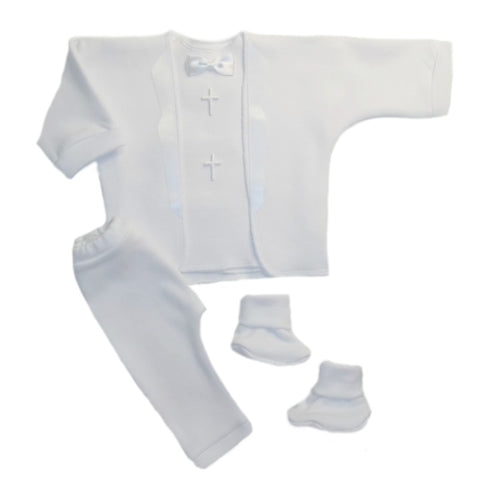 Baby Boys' White Christening Suit