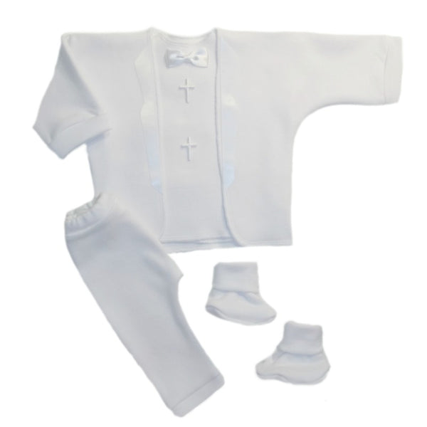 Baby Boys' Christian White Burial Suit