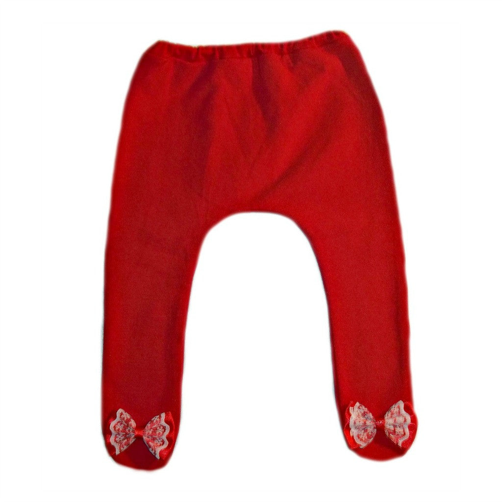 7ca02a27a Baby Girl Red Christmas Tights with Bows | Jacqui's Preemie Pride
