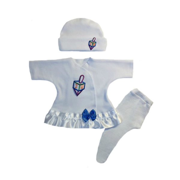 Baby Girls' Darling Dreidel 3 Piece Hanukkah Dress Set