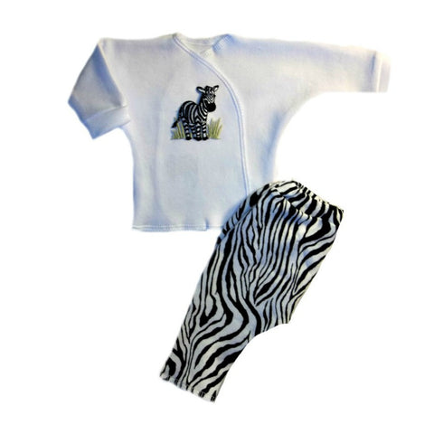 Unisex Baby Zany Zebra Clothing Outfit for Premature Babies, Micro Preemie and Newborn Infants