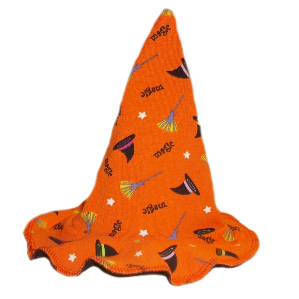 Happy Halloween Orange Magic Witch Baby Hat 6 Preemie Newborn Toddler Sizes
