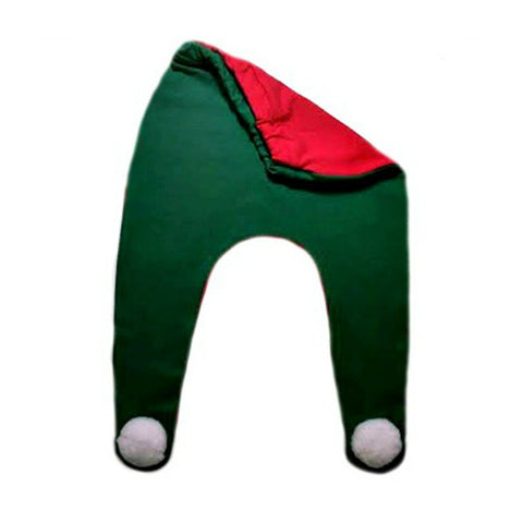 Red and Green Christmas Elf Unisex Baby Footed Pants