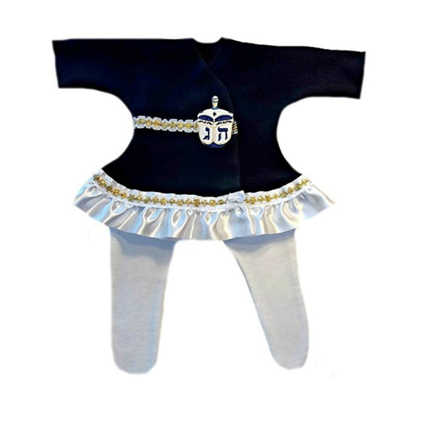 Baby Girls' Beautiful Hanukkah Dreidel Dress Set for Preemie and Newborns