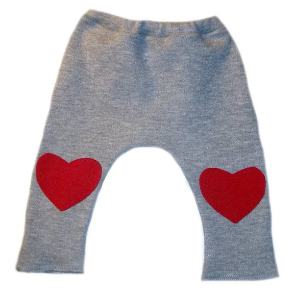 Toddler, Newborn and Preemie Gray Pants with Hearts!