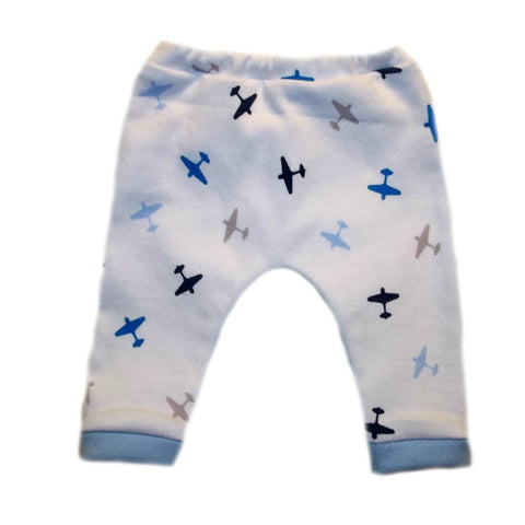 Newborn and Preemie Baby Boy's Cute Airplane Pants