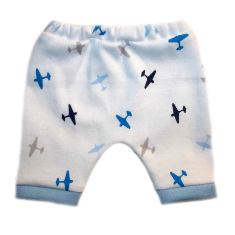 Newborn Preemie Baby Boy Cute Airplane Shorts