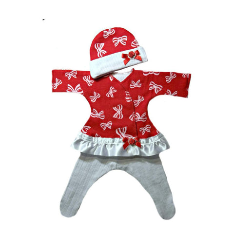 Baby Girls' Beautiful Bows Sassy Dress for Preemie and Newborn Infants
