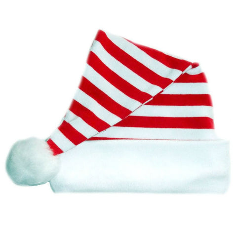 Unisex Babys' Red and White Striped Santa Hat Sized For Preemie and Newborn Babies and Toddlerss