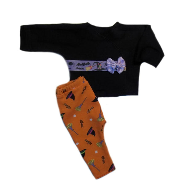 Bats Witches Halloween Baby Shirt Leggings