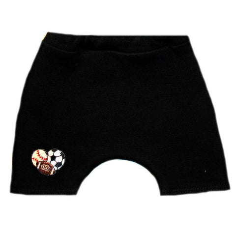 Unisex Baby Sports Balls Shorts. For Premature Babies, Preemie, Newborn and Toddlers.