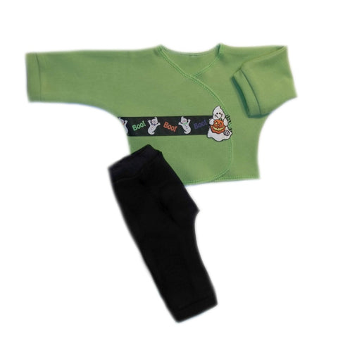 Preemie and Newborn Baby Boo! and Ghost Leggings and Shirt Set