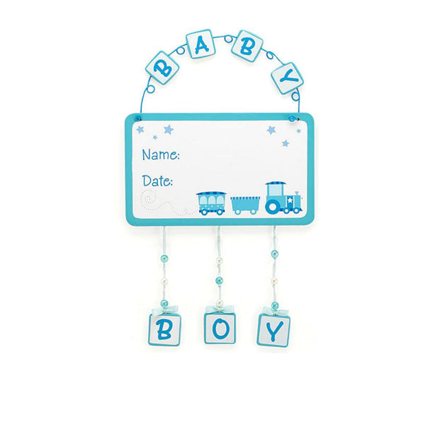 Welcome to the World Baby Boy Wall Hanging