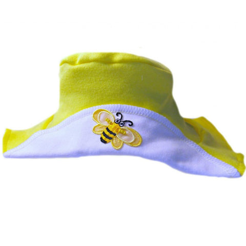 Unisex Busy Bee Baby Sun Hat Sized for Toddler, Preemie or Newborn