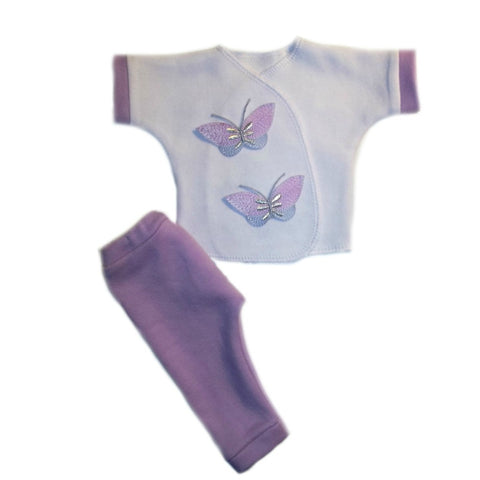 Baby Girl Beautiful Butterflies Shirt and Pants Outfit