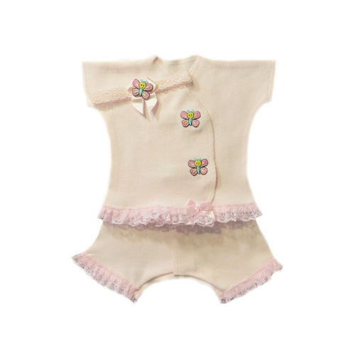 Baby Girl Butterfly Kisses Capri Set sized for Preemie and Newborns