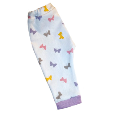 Preemie and Newborn Baby Girls' Beautiful Butterflies Pants