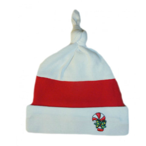 Unisex Baby Candy Cane Christmas Baby Hat Sized For Preemie and Newborn Babies