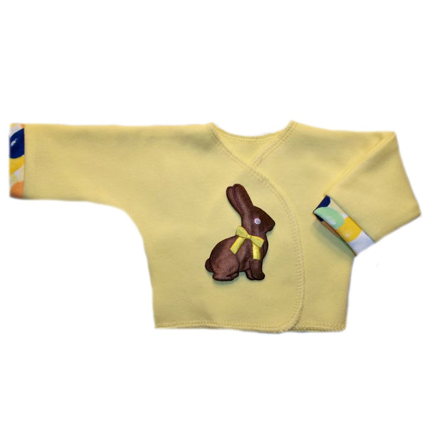 Preemie and Newborn Chocolate Easter Bunny Unisex Baby Long Sleeve Shirt