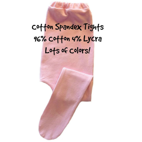 Baby Girl Cotton Spandex Tights, Lots of Colors. For Premature Babies, Preemie and Newborn Infants