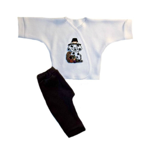 Thanksgiving Pilgrim Dog Newborn Preemie Baby Clothing