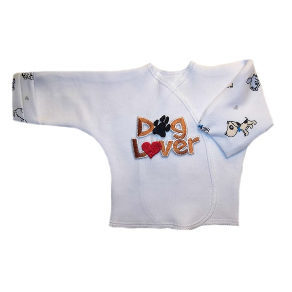 Baby Boy Dog Lover Long Sleeve Shirt with Mitten Cuffs