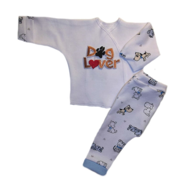 Unisex Baby Dog Lover 2 Piece Clothing Outfit Set