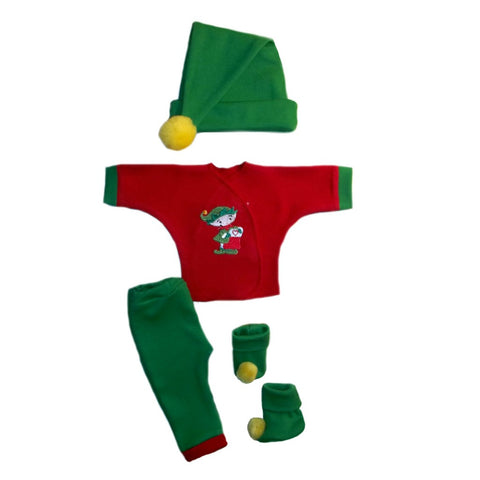 Santa's Christmas Elf 4 Piece Baby Clothing Outfit