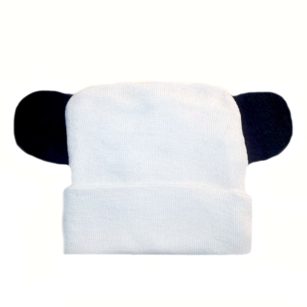 dfc211428 White Baby Hospital Hats with Ears
