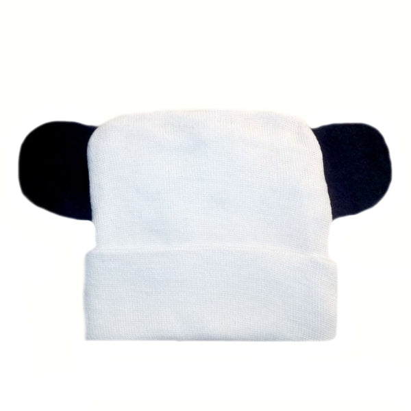White Baby Hospital Hats with Ears