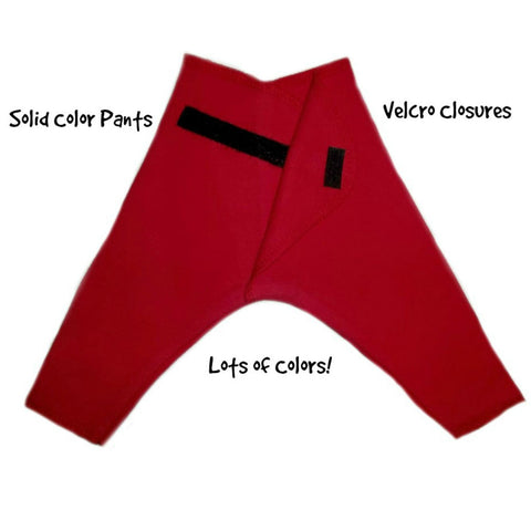 Solid Color Unisex Baby Pants with Velcro Closures - Lots of Colors!