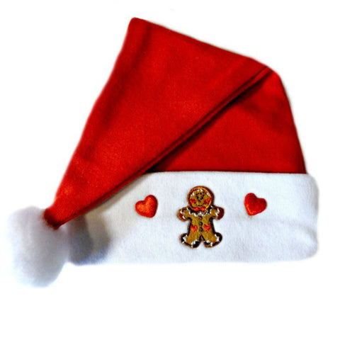 Baby Boys' Gingerbread Santa Hat Sized for Preemie and Newborn Babies