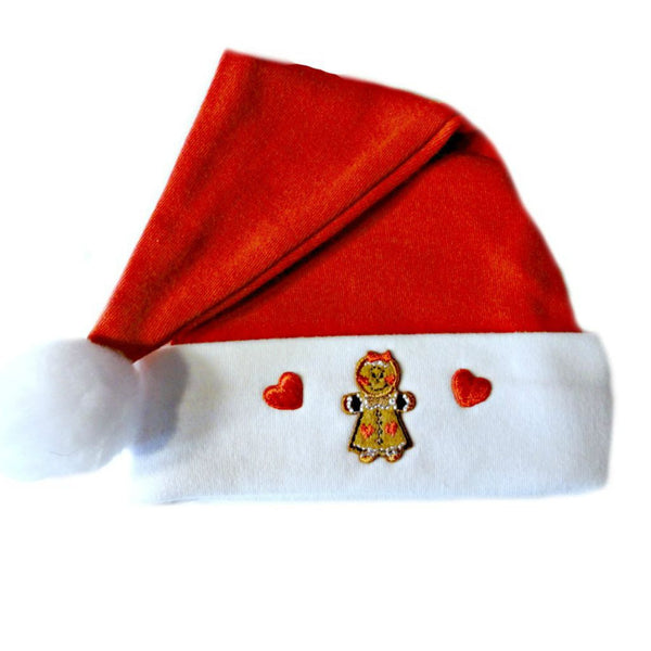 Baby Girls' Gingerbread Baby Santa Hat Sized for Preemie and Newborn Babies