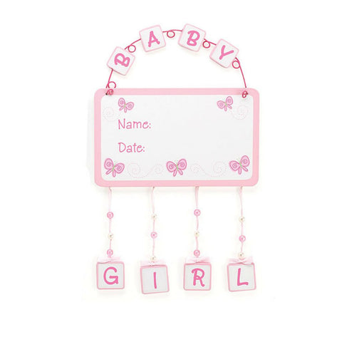 Welcome to the World Baby Girl Wall Hanging