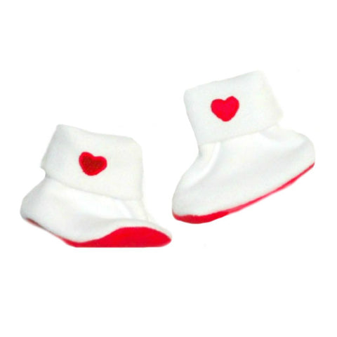 Newborn and Preemie Unisex Baby Valentine's Day Heart Booties