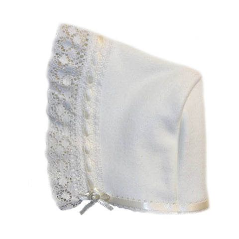 Baby Girls' Gorgeous Ivory Bonnet
