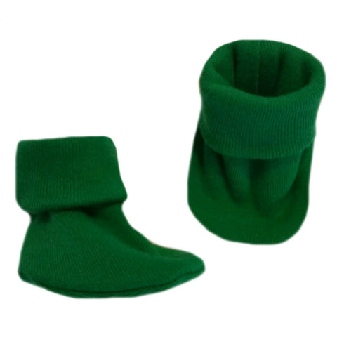 Kelly Green Preemie and Newborn Baby Booties