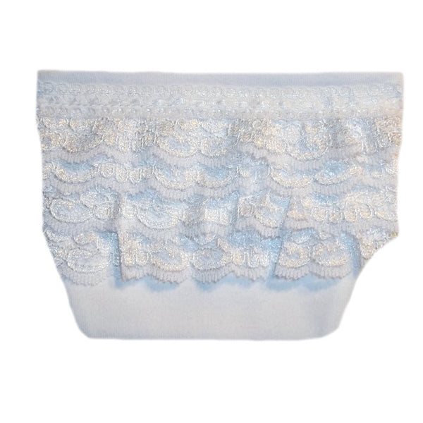 Preemie and Newborn Baby Girls' Lovely White Lace Diaper Cover